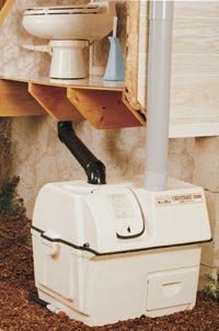 Central Composting Toilet Systems Using Low Flush Toilets