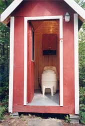 Excel Composting Toilet In Outhouse